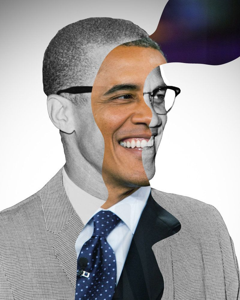 Barack Obama and Malcolm X