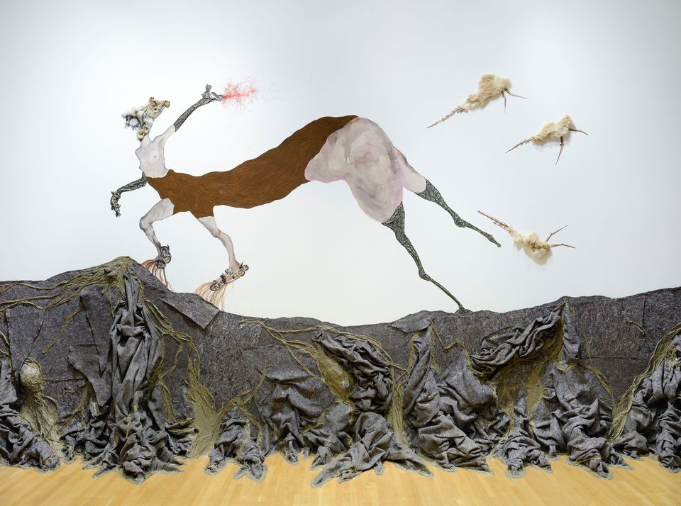 Wangechi Mutu (Kenyan, b. 1972). Once upon a time she said, I'm not afraid and her enemies became afraid of her The End, 2013