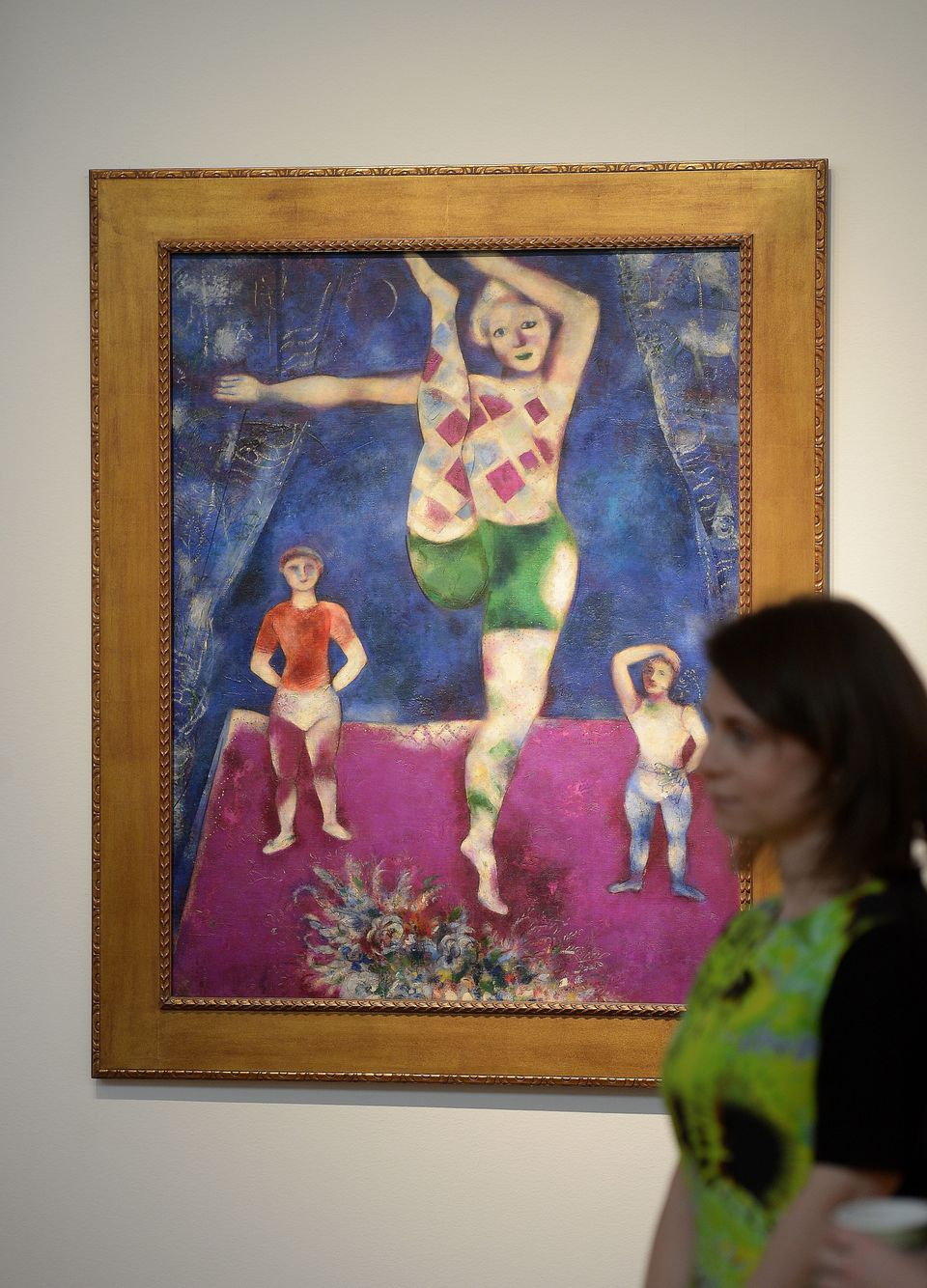 """Les trois acrobates"" by Marc Chagall is on display during a preview of Christie's Impressionist and Modern Art sales in New"