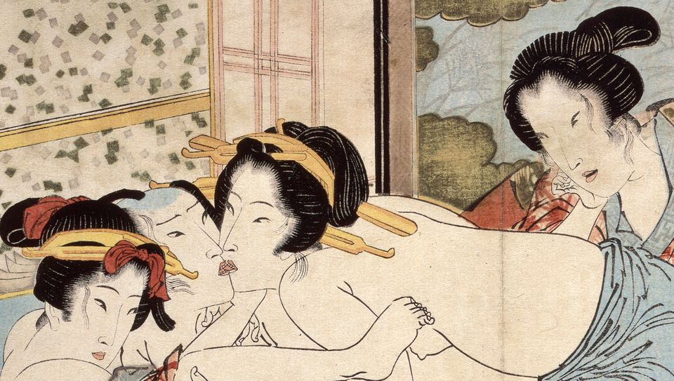 Keisai Eisen (1790–1848) Passion in the Snows of Spring Copy of Kaseikyu (Detail), 1822 Illustrated book, folding album 23.0
