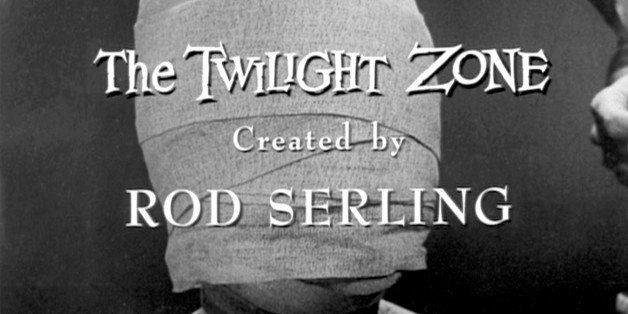 LOS ANGELES - NOVEMBER 11: Twilight Zone episode 'Eye of the Beholder', written by Rod Serling. End title credit. Originally