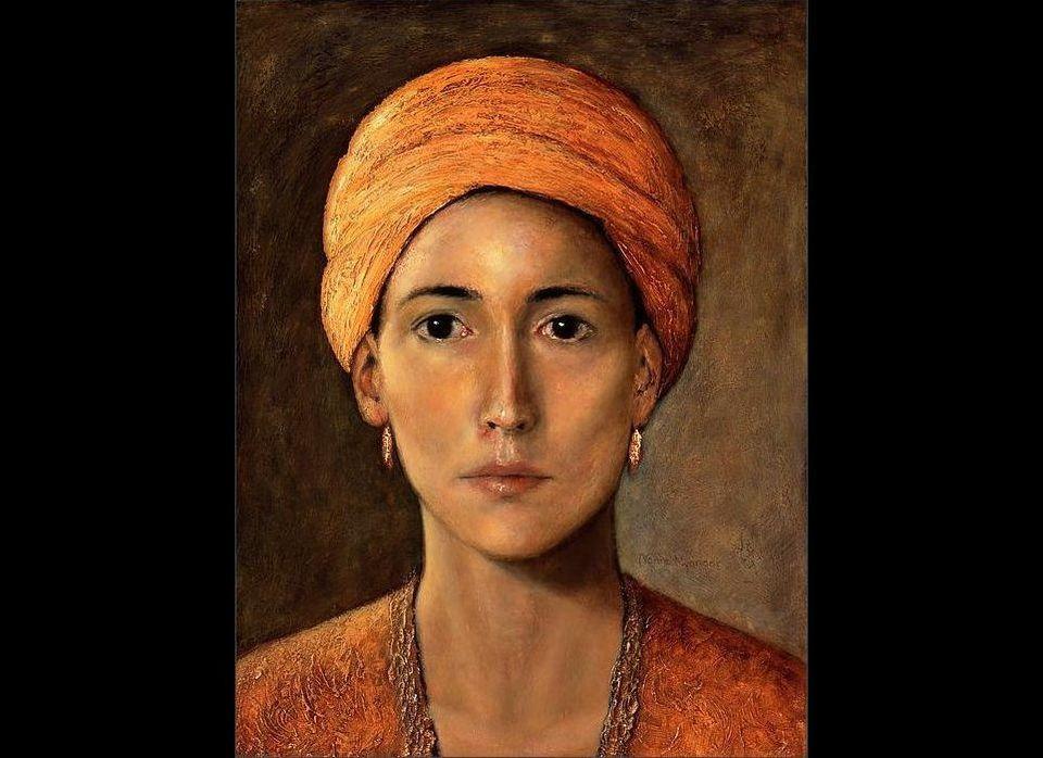 """<em>Golden Turban</em>, by <a href=""""http://nannenyander.se/"""" target=""""_hplink"""">Nanne Nyander</a>, 2003 Exhibited at the Natio"""