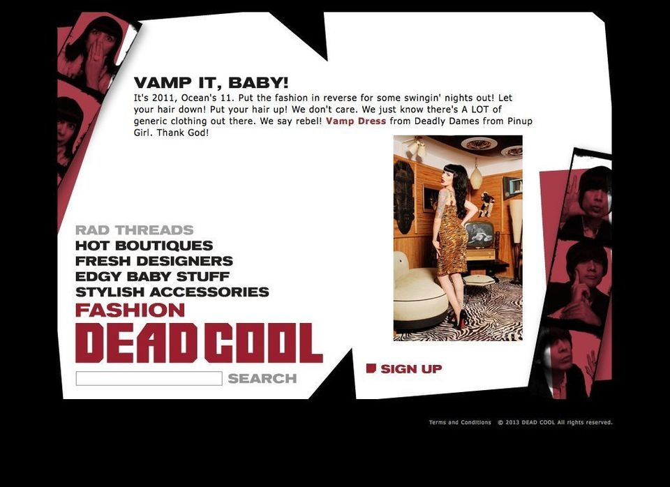 Vamp Dress from Dead Cool Favorite Boutique, Pinup Couture, on our favorite Model, Micheline Pitt