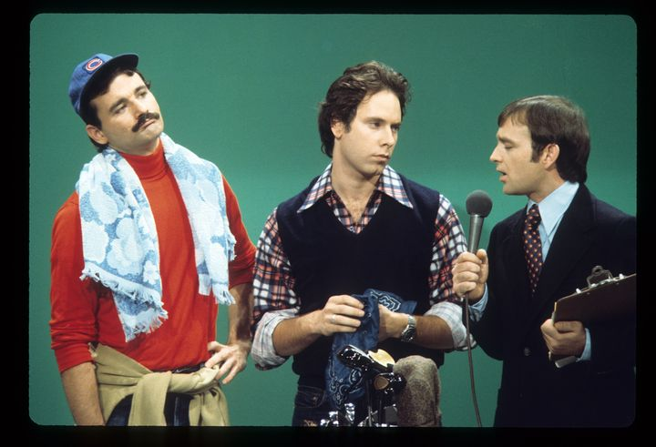 """Bill Murray, Christopher Guest andBrian Doyle-Murray appearing on """"Saturday Night Live with Howard Cosell."""""""