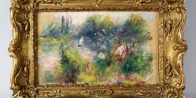 This image released by Potomack Company shows an apparently original painting by French impressionist Pierre-Auguste Renoir t
