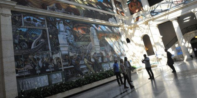 TO GO WITH AFP STORY by Mira OBERMAN, US-politics-bankruptcy-arts-museum  