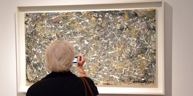 Jackson Pollock's 'No. 28, 1951' on display at Christie's in New York May 4, 2012 during a preview of the Post War and Contem