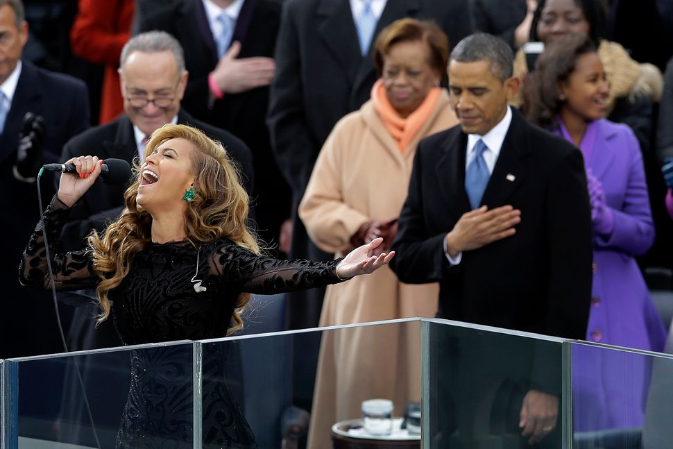 2013 was bookended by Beyonce's accomplishments. The artist sang the National Anthem at President Barack Obama's inauguration