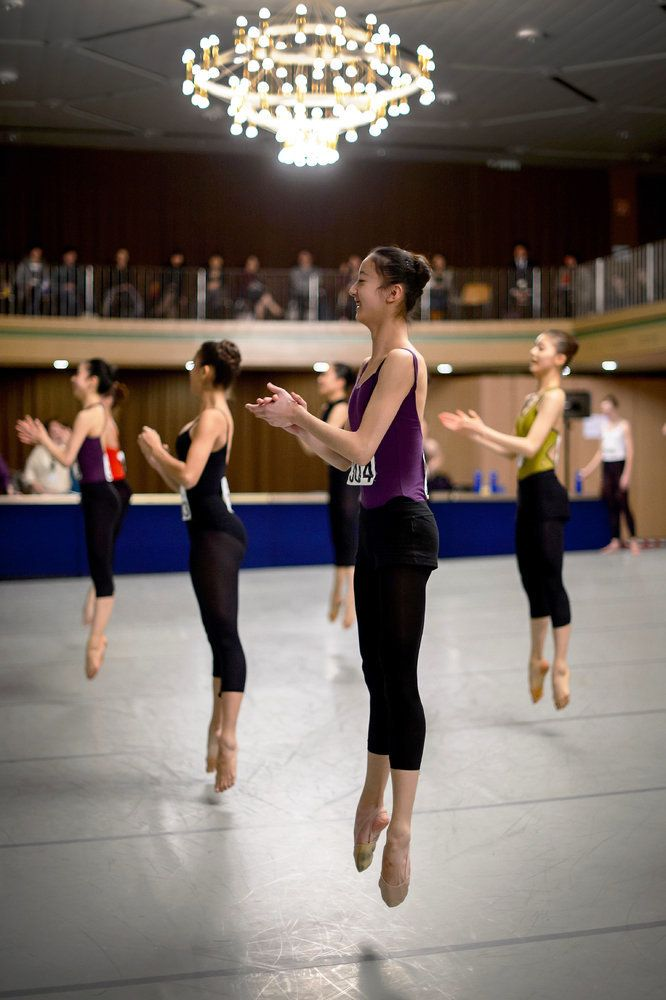 "Young dancer attend the Contemporary Classes at the 41th International Ballet Competition ""Prix de Lausanne"" on January 28, 2"