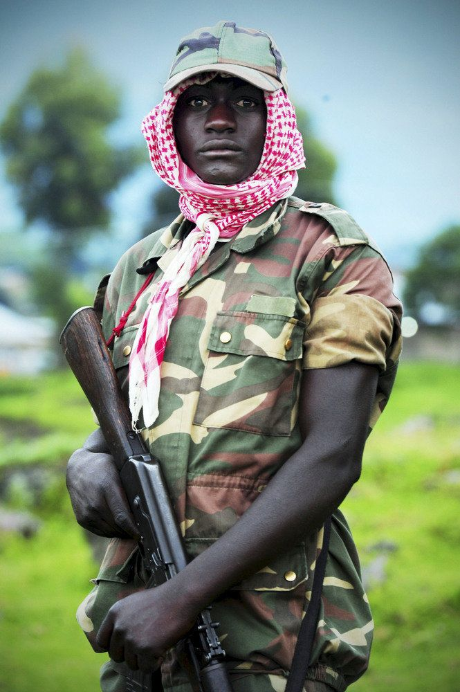 A M23 rebel on April 27, 2013, in Rutshuru, Democratic Republic of the Congo. The group is strengthening its tactics, followi