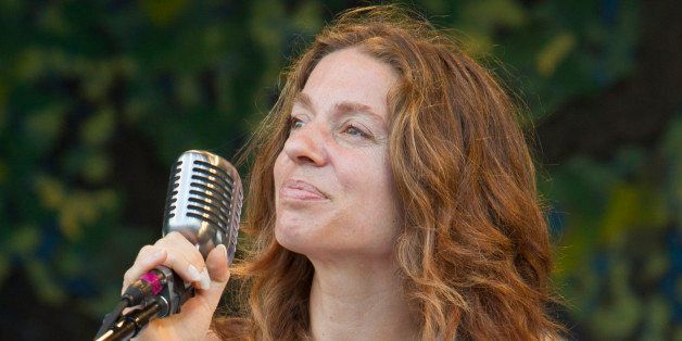 NEW ORLEANS, LA - MAY 06: Singer-songwriter Ani DiFranco performs on stage for the Preservation Hall and Friends 50th Anniver