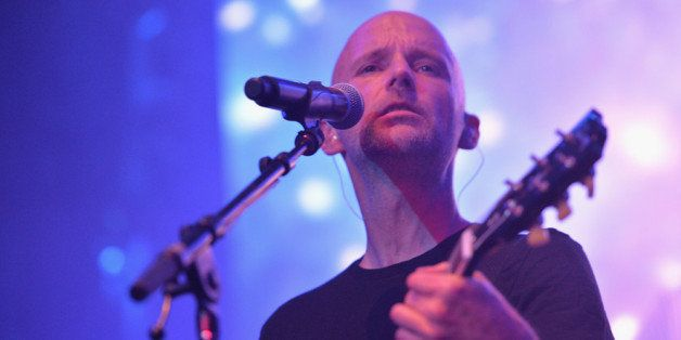HOLLYWOOD, CA - FEBRUARY 26:  Musician Moby performs at Global Green USA's 11th Annual Pre-Oscar party at Avalon on February