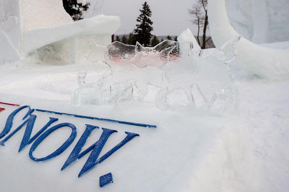 Amazing ice sculptures.