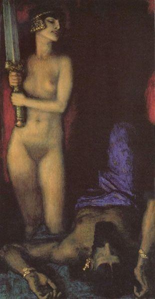 """Franz Stuck, """"Judith"""" (1927)."""