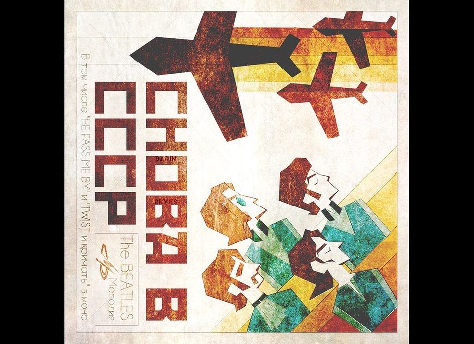 Record sleeve art project <em>Back in the USSR</em> by Darin Reyes, as if it was released in 1968 by Melodiya, the only recor