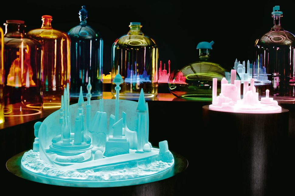 Kelley takes Kandor, the capital of Superman's fictional origin planet Krypton, which, in the comics, was shrunken by the vil