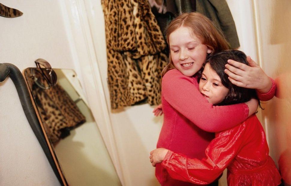 Mia hugging Georgia