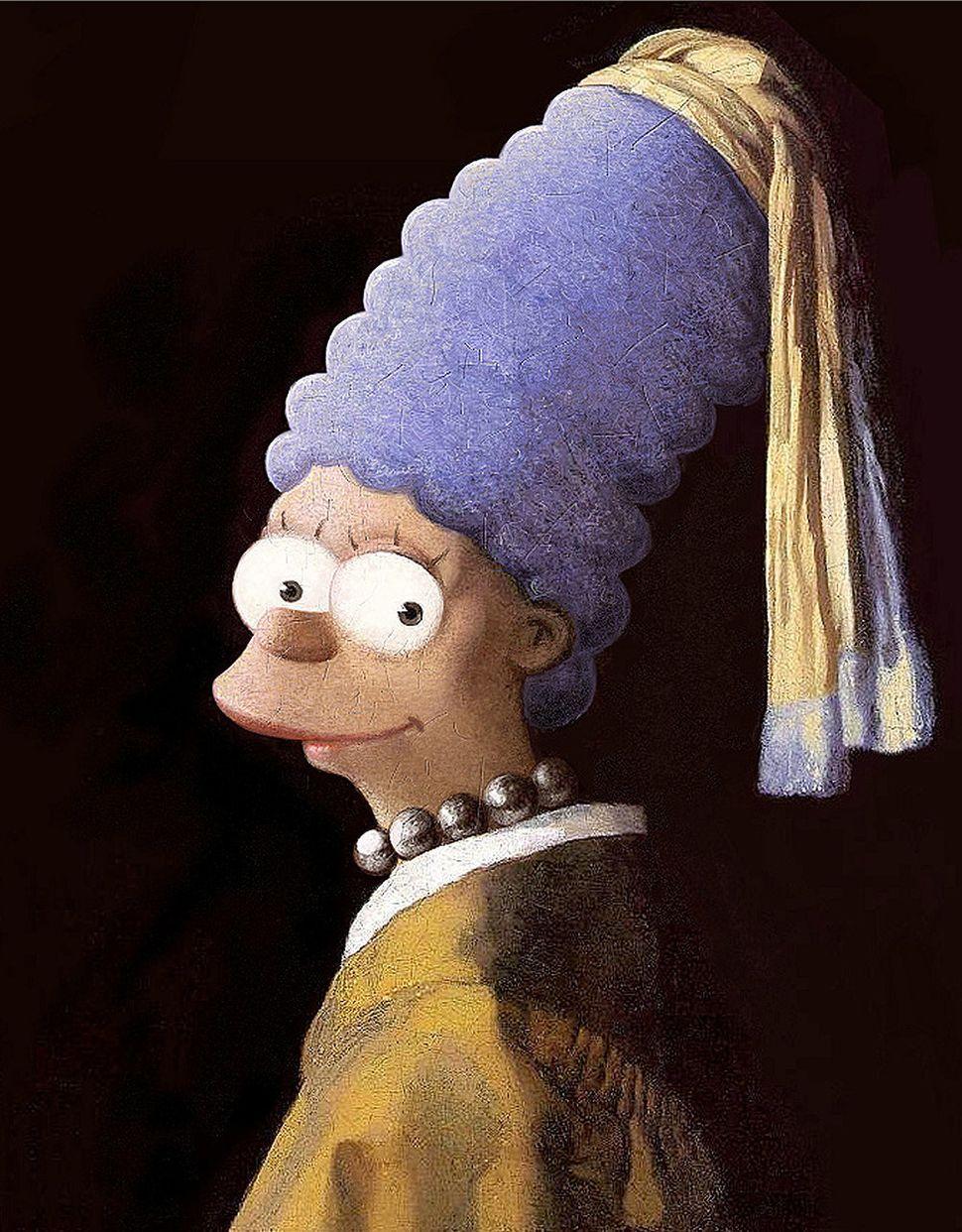 Johannes Vermeer + Marge Simpson