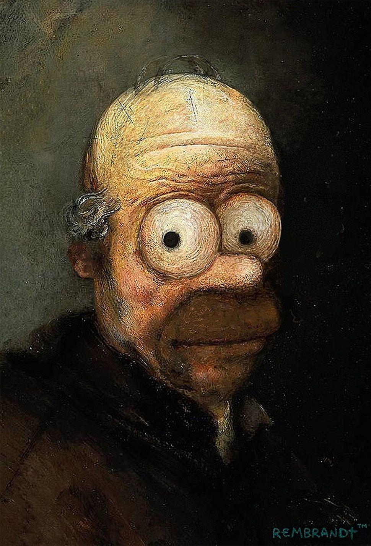 Rembrandt + Homer Simpson