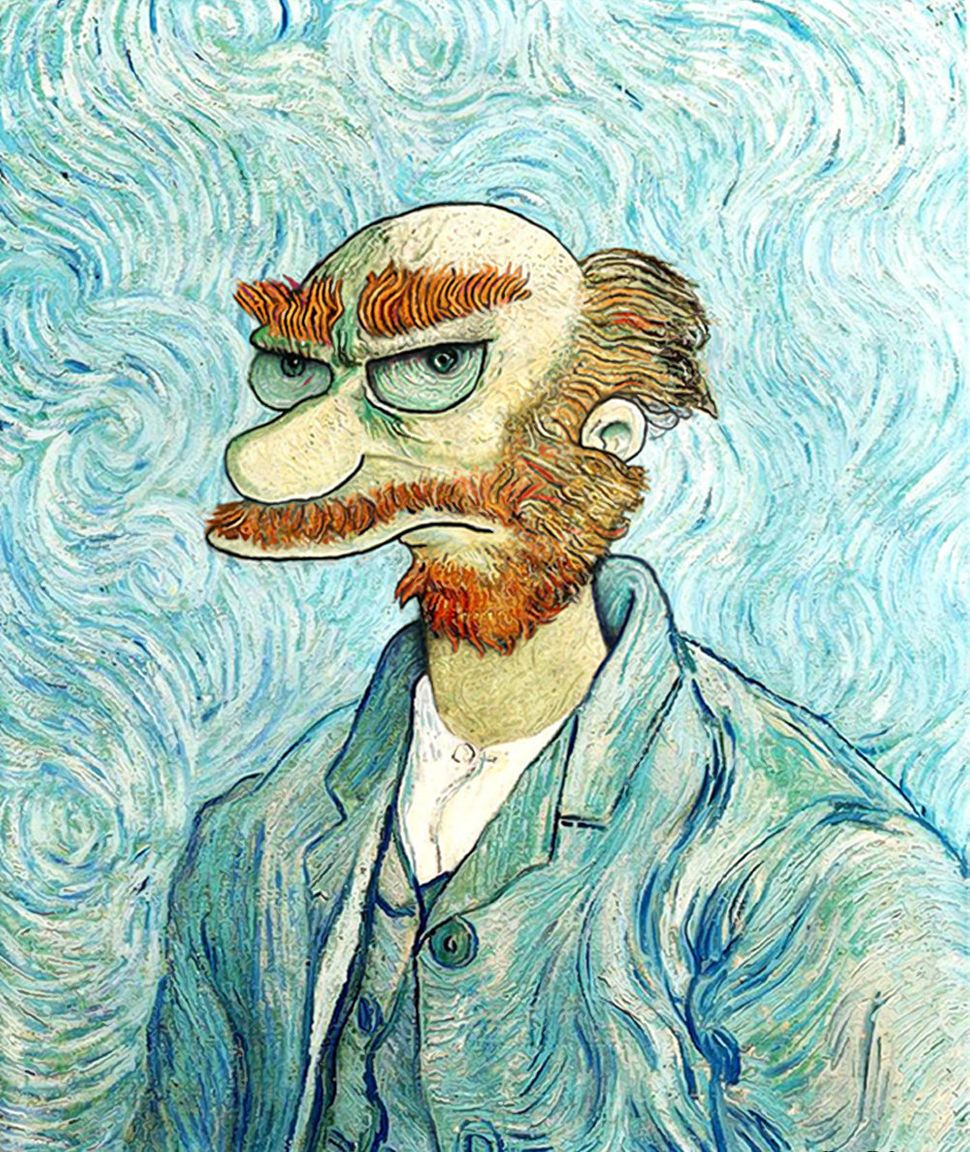 Vincent Van Gogh + Groundskeeper Willie