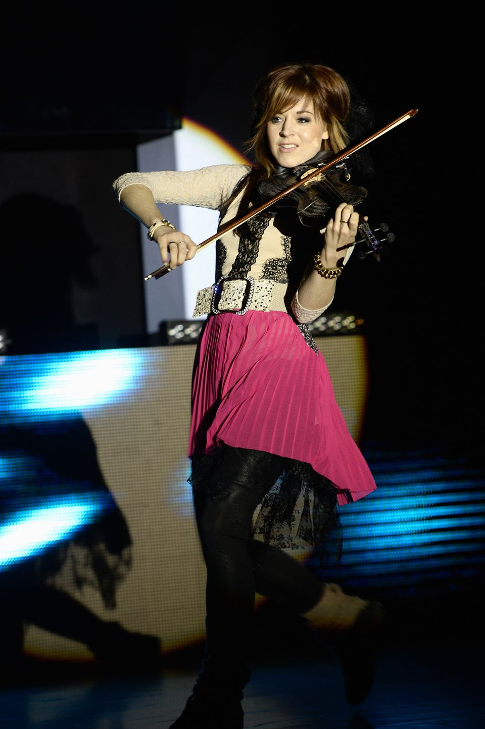 BERLIN, GERMANY - SEPTEMBER 12:  Lindsey Stirling performs at the Dreamball 2013 charity gala at Ritz Carlton on September 12