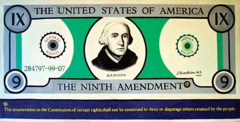 """The Ninth Amendment"" - 48X24 - 2000 - $35,000"