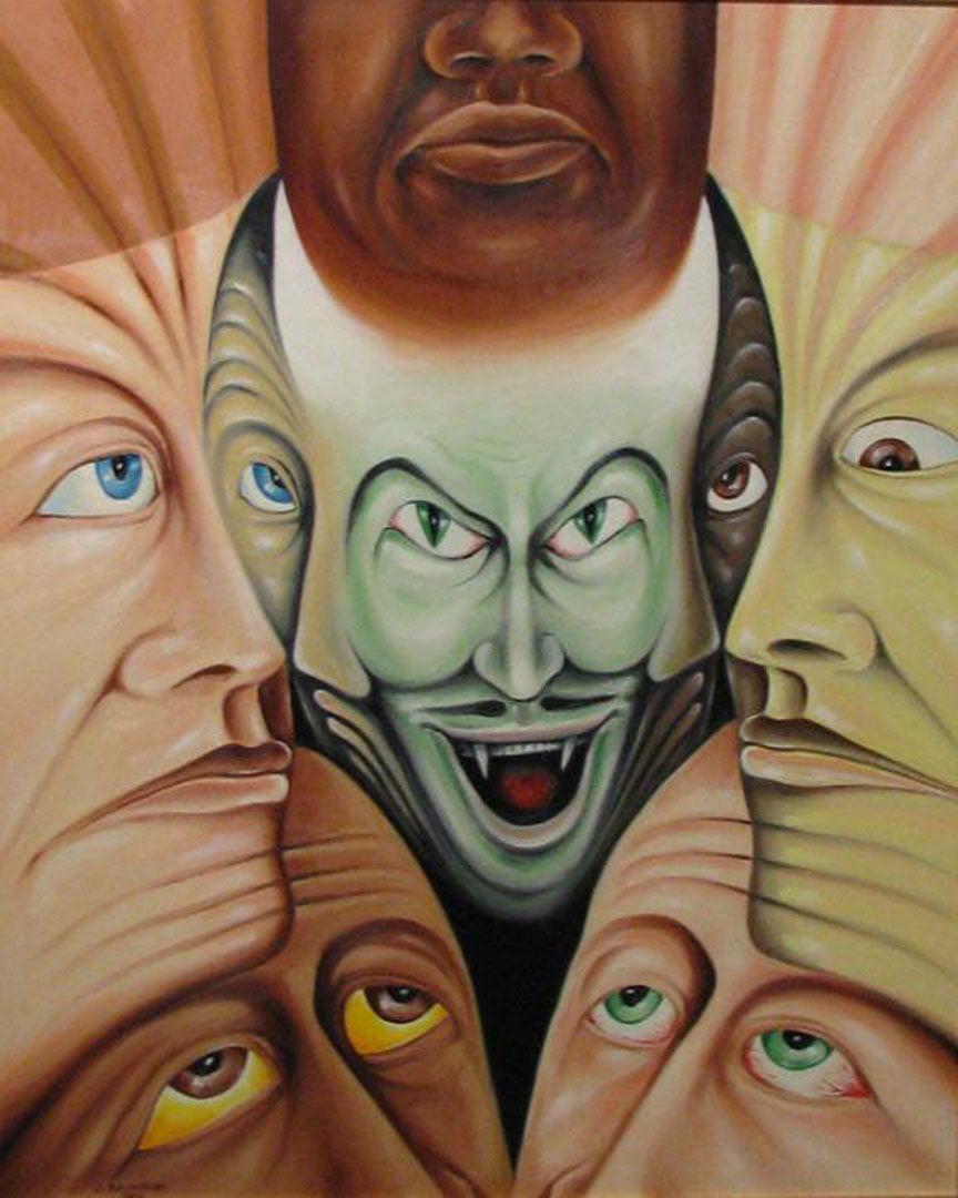 """The Brotherhood"" - 28X35 - oil on canvas -  1994 - $45,000"