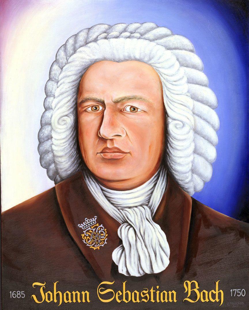 """""""Johann Sebastian Bach"""" - 28X34 inches - oil on panel - 1997 - $42,000"""