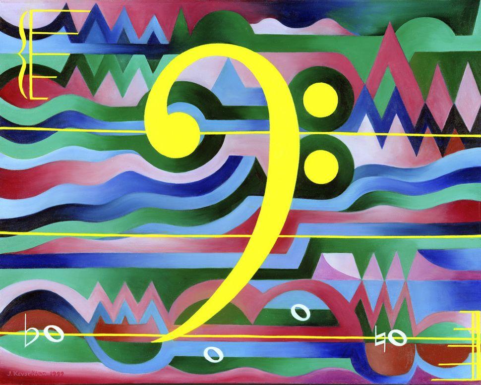 """Art Fugue"" - 28X33 - oil on canvas -1999 - $35,000"