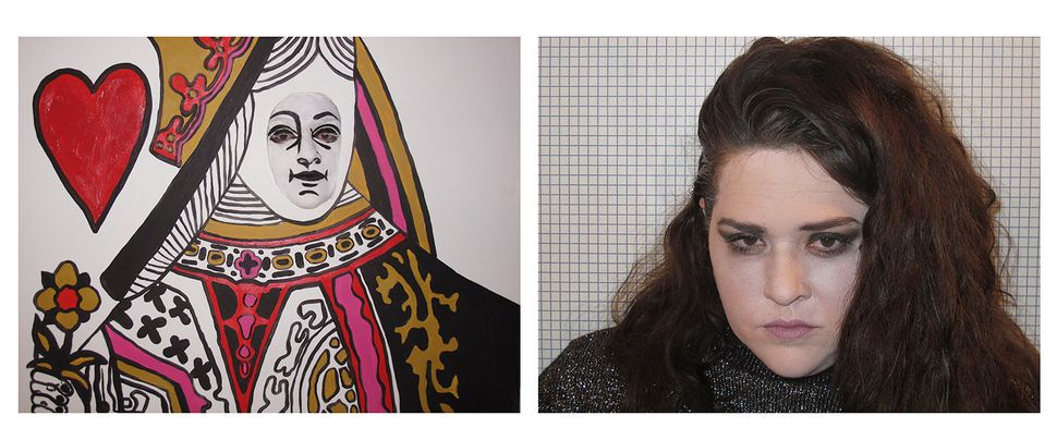Self-portrait as Queen/Self-portrait as Kristen Stewart in This Queen Totally Looks Like Kristen Stewart by No-Face8 (Totally