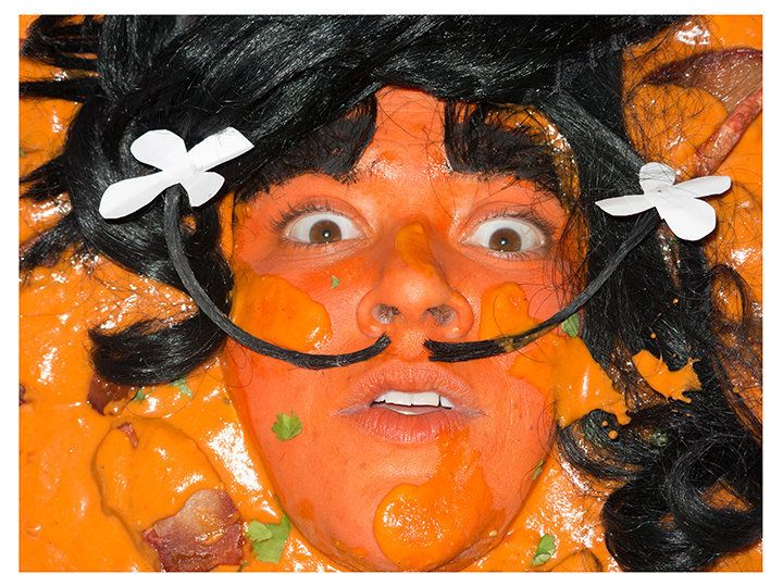 Self-portrait as Chicken Tikka Masalvador Dali by food'lebrities (Celebrities as Food Series) color photograph, 2014