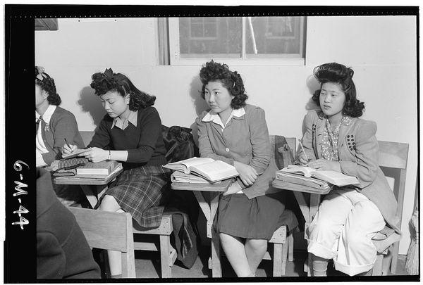 In Biology Class, High School, Kiyo Yoshida, Lillian Wakatsuki, Yoshiko Yamasaki