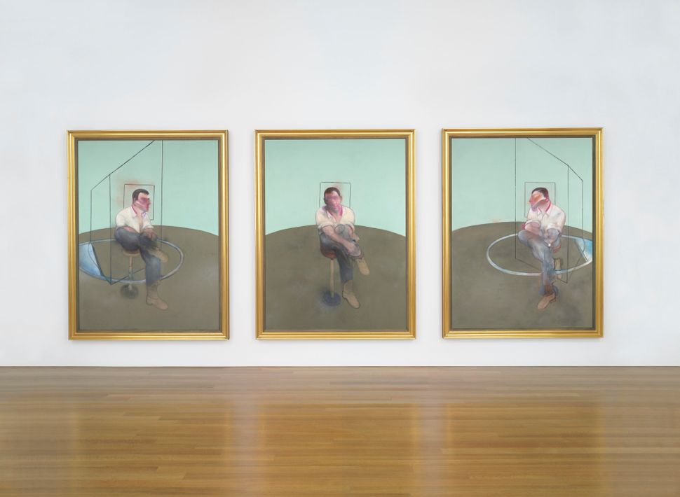 Francis Bacon (1909-1992), Three Studies for a Portrait of John Edwards signed, titled, inscribed and dated '3 Studies for a