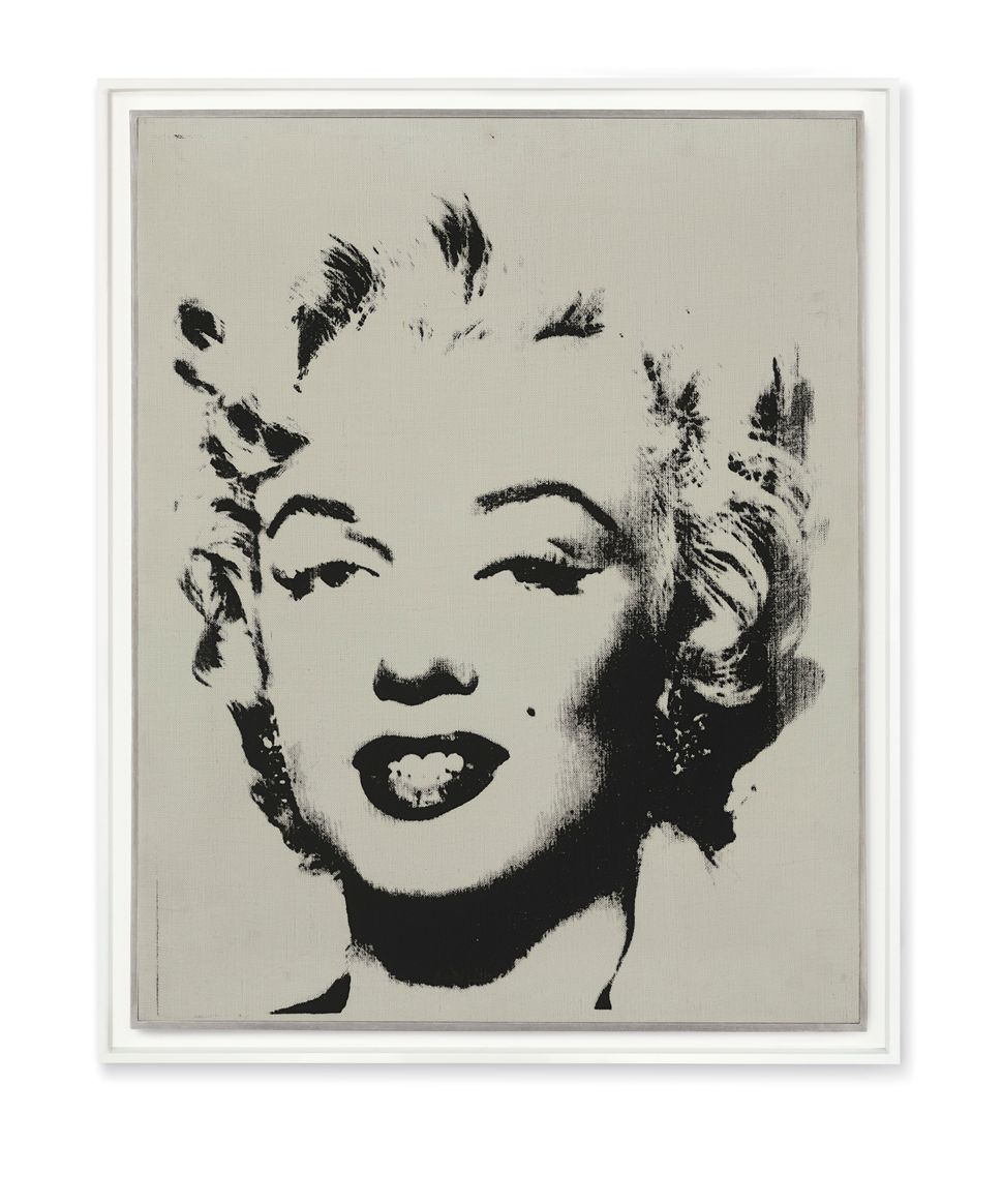 Andy Warhol (1928-1987), White Marilyn, signed, dated and inscribed 'To Eleanor Ward Andy Warhol/62' (on the reverse), acryli