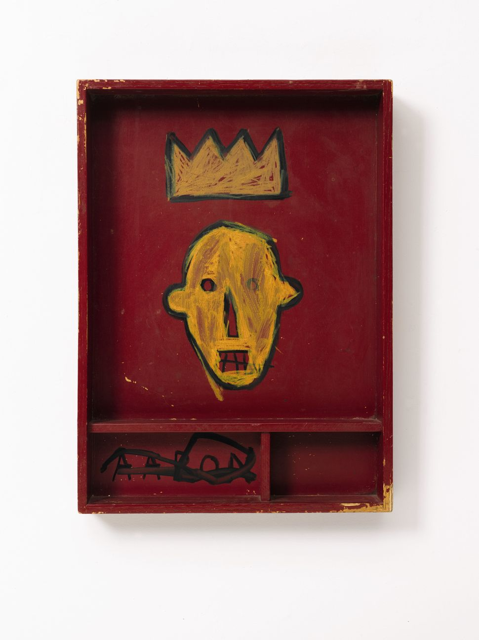 Lot 237, Property from the Estate of Jan Krugier, Jean-Michel Basquiat, Untitled, acrylic and marker on wood, 22 by 16 by 3 1
