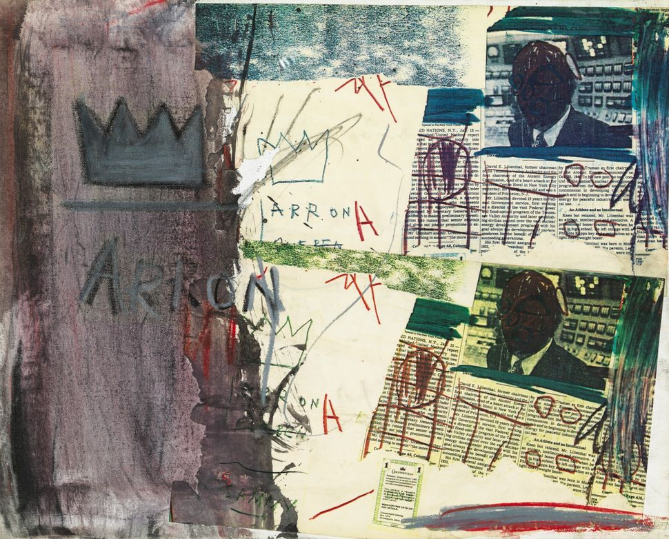 Lot 264, Property from the Estate of Jan Krugier, Jean-Michel Basquiat, Untitled, signed and dated 1981 on the reverse acryli