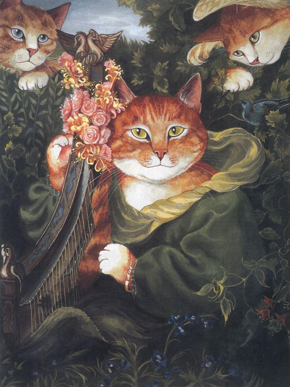 """La Ghirlandata, after Dante Gabriel Rossetti (<a href=""""http://www.rossettiarchive.org/docs/s232.rap.html"""" target=""""_blank"""">see"""