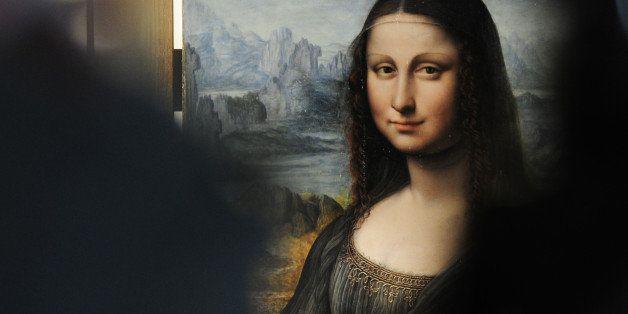 View of an authenticated contemporary copy of Leonardo da Vinci's Mona Lisa presented at the Prado Museum in Madrid on Februa