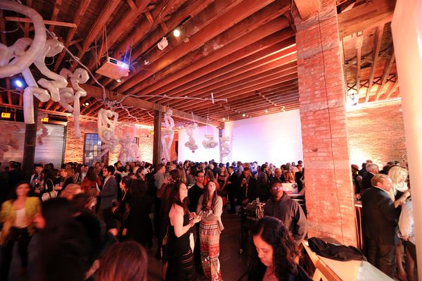 NEW YORK, NY - MAY 04:  A general view of atmosphere during the first annual Village Fete at Pioneer Works on May 4, 2014 in