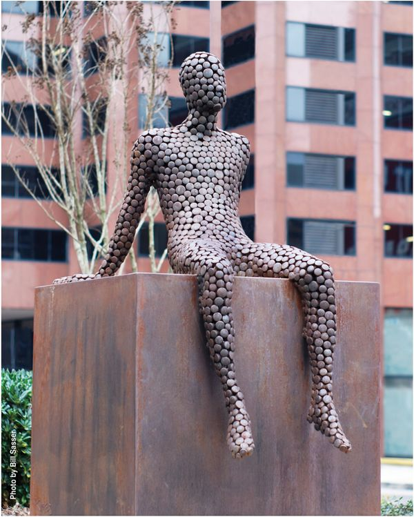 <em>This piece is located off Poydras Street, one of the busiest in New Orleans.</em> <br> <br> Jason Kimes currently has two