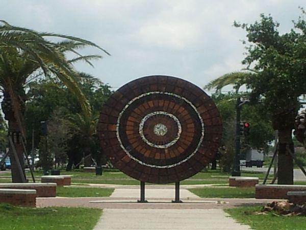 <em>Mandala is displayed in New Orleans on a path that Rashida Ferdinand used to frequent as a child.</em> <br> <br> Rashida