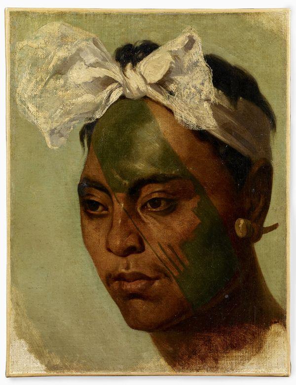 Homme marquisien tatoué. Oceania. © musée du quai Branly, photo Claude Germain.