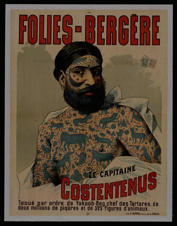 Le capitaine Costentenus tatoué par l'ordre de Yakoob-Beg. © Fonds Dutailly, Ville de Chaumont.