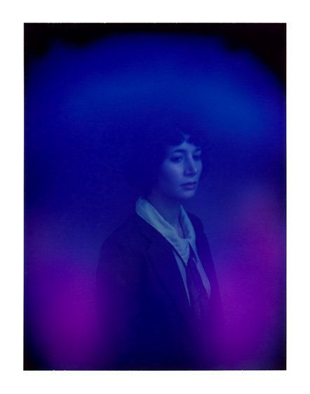 """""""Van De Roer uses a 1970s Polaroid aura camera in an attempt to capture 'what a psychic might see.' Here he captures a hypnot"""