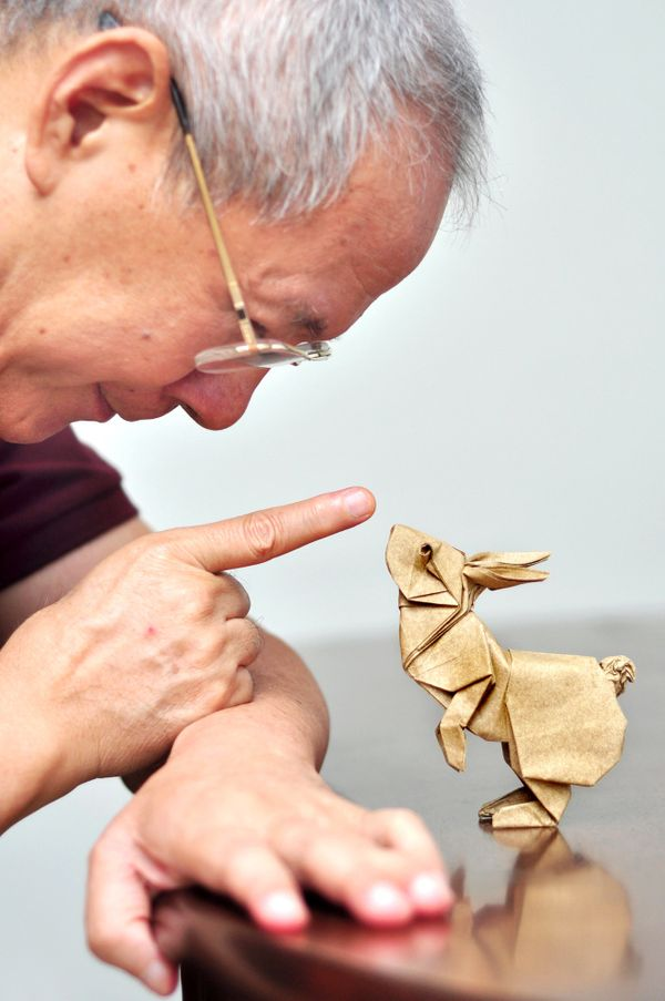 Rabbits in Motion, Ronald Koh, Folded by Ng Boon Choon