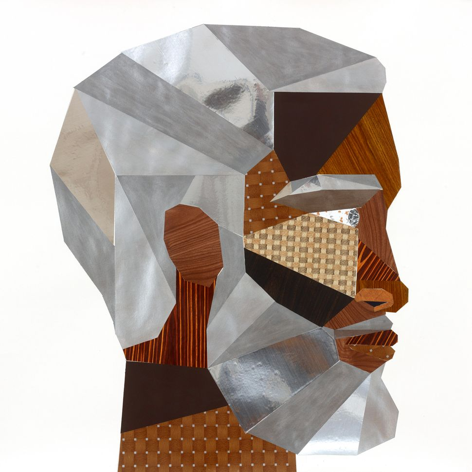 Derrick Adams, Head#12 (FloorPlan) 2012