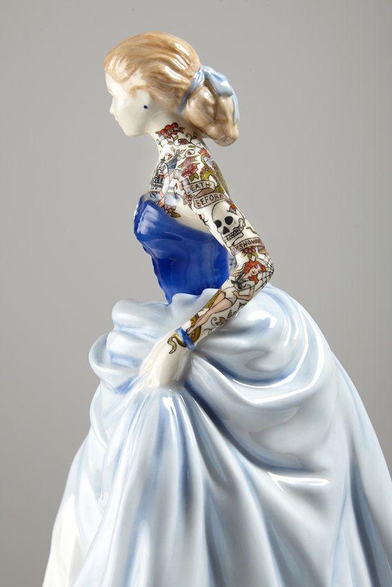 Painted Lady 6, 2014, 22 x 16 x 124m, found ceramic, enamel paint
