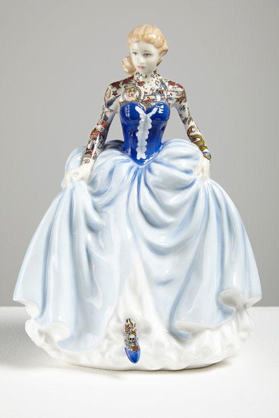 Painted Lady 6, 2014, 22 x 16 x 14cm, found ceramic, enamel paint