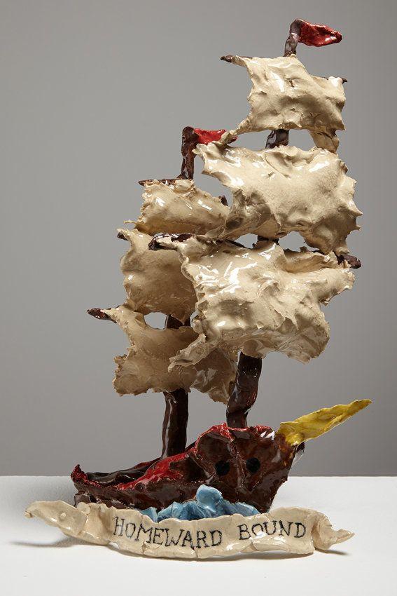 Homeward Bound, 2014, 35 x 19 x 22cm, ceramic