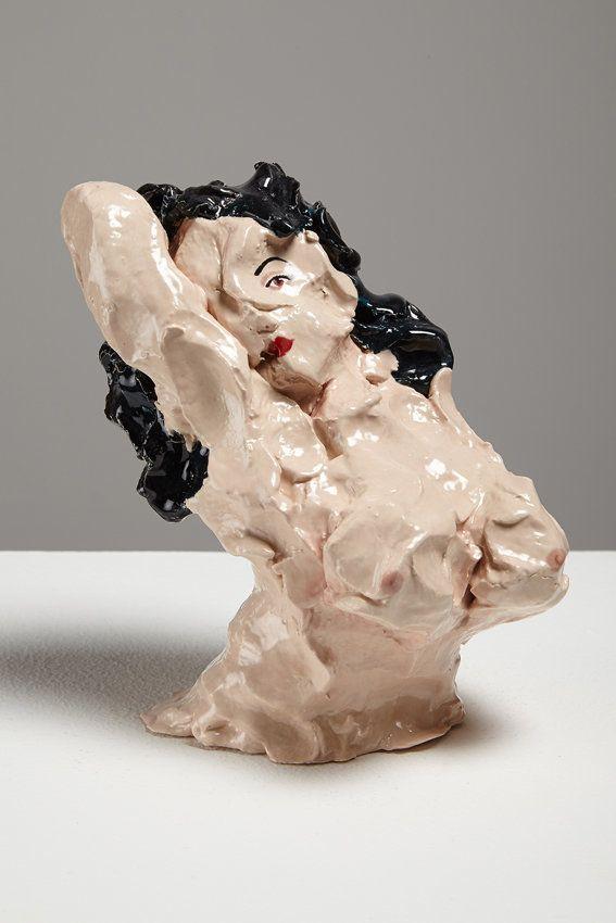 Nude Bust 1, 2014, 15 x 13 x 9cm, ceramic